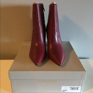 Marc Fisher Ulani ankle booties Dark Red 10
